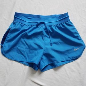 Nike dri fit shorts with liner blue xs